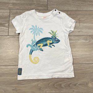 Catimini Boys Lizard Print Tee Shirt Chameleon